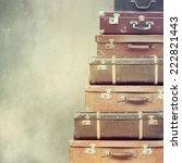 vintage  suitcase | Shutterstock . vector #222821443