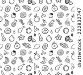 fruit seamless pattern black... | Shutterstock .eps vector #222832747