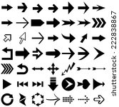 set of arrow shapes  isolated... | Shutterstock . vector #222838867