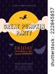 halloween event poster template ... | Shutterstock .eps vector #222845857