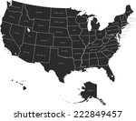 usa map  | Shutterstock .eps vector #222849457