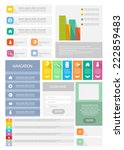 flat info graphics element set. ... | Shutterstock .eps vector #222859483