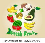 fresh fruit | Shutterstock .eps vector #222869797