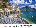 bella italia series   atrani... | Shutterstock . vector #222870073