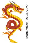 Chinese Red Dragon Of Power An...