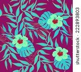 tropical seamless pattern. | Shutterstock .eps vector #222893803