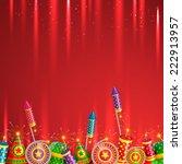 vector diwali crackers... | Shutterstock .eps vector #222913957