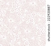 seamless white lace on pink... | Shutterstock .eps vector #222920887