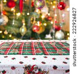 empty christmas table background | Shutterstock . vector #222926827