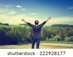 summer landscape of fields and... | Shutterstock . vector #222928177