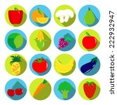 vegetables and fruits vector...   Shutterstock .eps vector #222932947