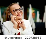business woman outside on a... | Shutterstock . vector #222938953