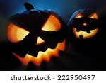 halloween pumpkins close up  ... | Shutterstock . vector #222950497