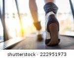 athlete runner feet running on... | Shutterstock . vector #222951973