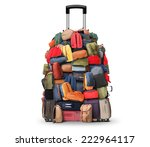 baggage  a very large pile of... | Shutterstock . vector #222964117