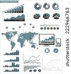 detail infographic. world map... | Shutterstock . vector #222966763