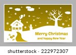 vector gold christmas card with