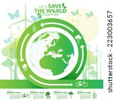 save the world | Shutterstock .eps vector #223003657