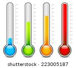 thermometer vector | Shutterstock .eps vector #223005187