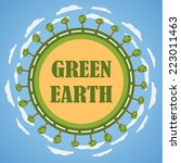 green planet earth concept.... | Shutterstock .eps vector #223011463