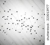 molecule structure  gray... | Shutterstock .eps vector #223013977