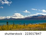 view of kluane lake and st.... | Shutterstock . vector #223017847