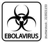 ebola virus icon on white...   Shutterstock .eps vector #223021153