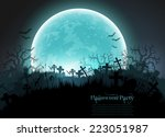 halloween party | Shutterstock .eps vector #223051987