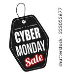 cyber monday black leather... | Shutterstock .eps vector #223052677