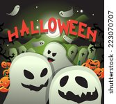 halloween background   vector...