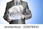cloud computing touchscreen... | Shutterstock . vector #223078543