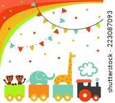 circus train | Shutterstock .eps vector #223087093