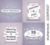 merry christmas and happy new... | Shutterstock .eps vector #223093537