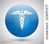 medical vector icon  caduceus... | Shutterstock .eps vector #223097677