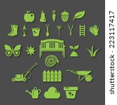 illustration set icon of garden.... | Shutterstock .eps vector #223117417