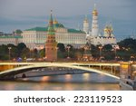 night view of moscow kremlin in ... | Shutterstock . vector #223119523