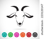 Vector Image Of An Goat Head O...