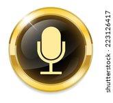 microphone button   Shutterstock .eps vector #223126417