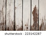 texture of old cracked wood... | Shutterstock . vector #223142287