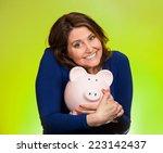 closeup portrait happy smiling... | Shutterstock . vector #223142437