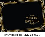 art deco gatsby style background | Shutterstock .eps vector #223153687