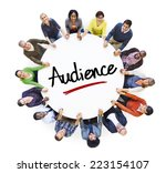 multi ethnic group of people...   Shutterstock . vector #223154107