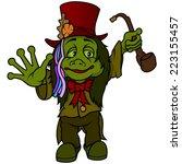 water goblin   colored cartoon... | Shutterstock .eps vector #223155457