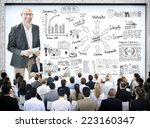 diverse business people in a... | Shutterstock . vector #223160347