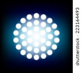 circle spotlight vector... | Shutterstock .eps vector #223164493