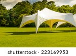 A White Tent Or Marquee In A...