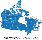 canada map | Shutterstock .eps vector #223187257