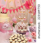 delicious sweet buffet with... | Shutterstock . vector #223189753