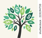 vector money tree   symbol of... | Shutterstock .eps vector #223194733