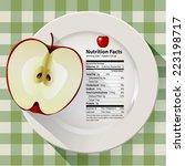 vector of nutrition facts apple | Shutterstock .eps vector #223198717